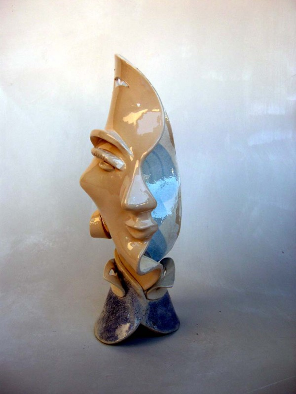 Coupe visage sculpture (profil)